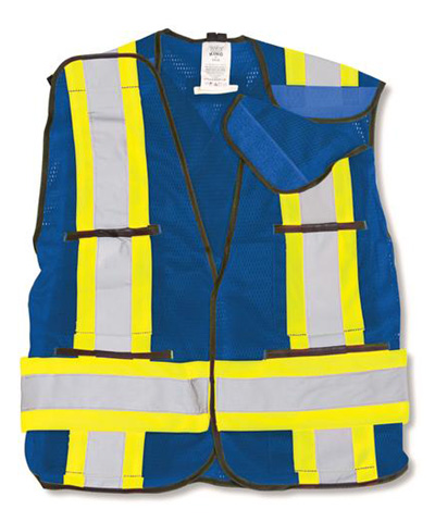 Royal BLUE 100% Polyester Soft Mesh Safety Vest