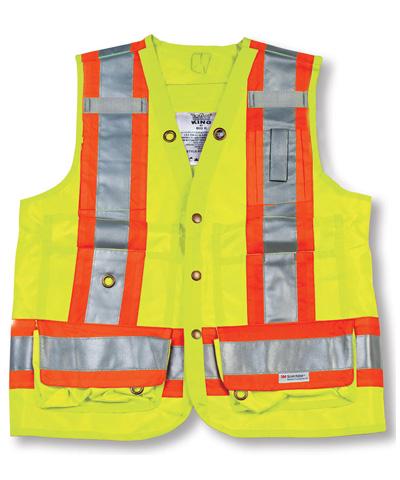 Lime 100% Polyester Surveyor Vest