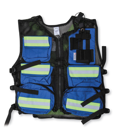 Royal Blue Mesh First Aid Safety Vest