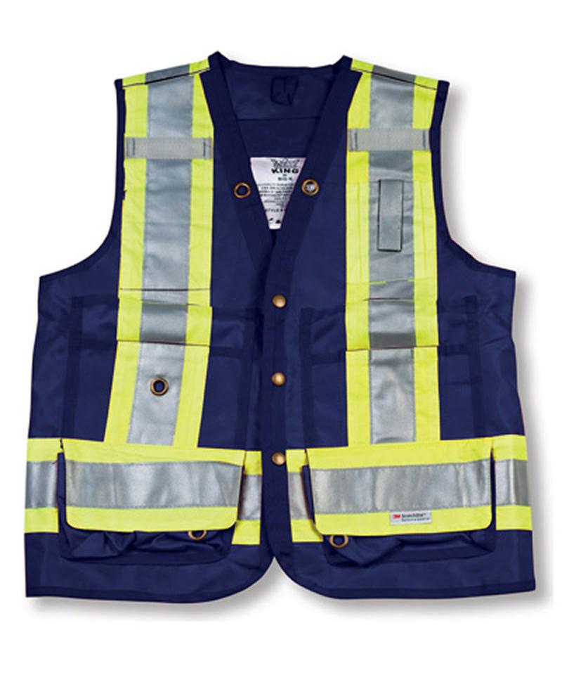 Navy Blue 100% Polyester Surveyor Vest