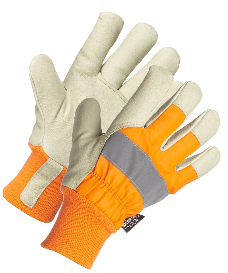 Cowgrain Leather, Thinsulate Lined Hi Viz Glove