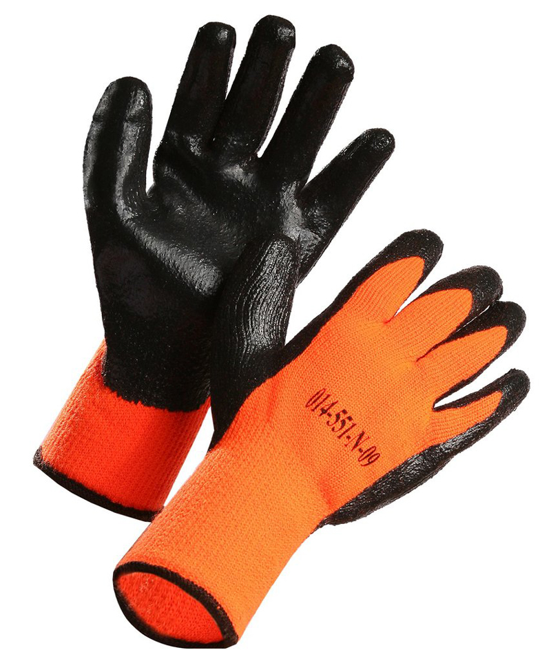 Nitrile Coated, Nylon Liner, Terry Cloth Insulated Glove