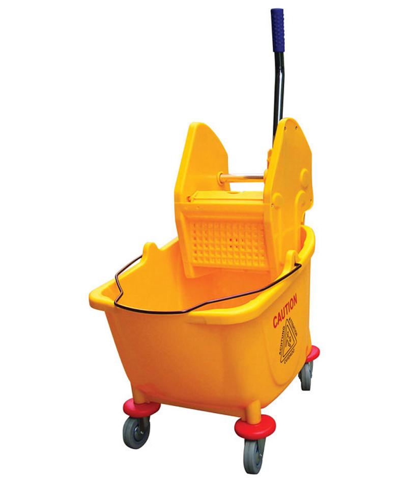 Mop Bucket and Wringer Combo Yellow