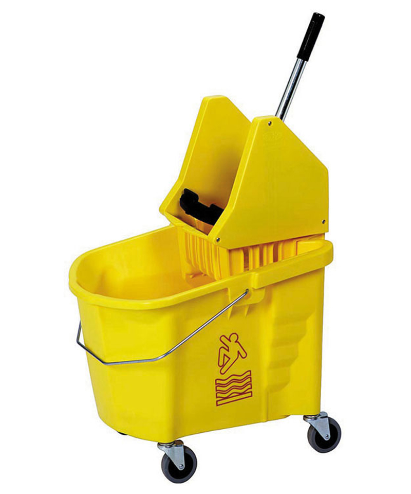 Mop Bucket and Wringer Combo Yellow
