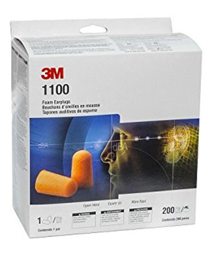 3M™ Foam Earplugs, 1100, orange