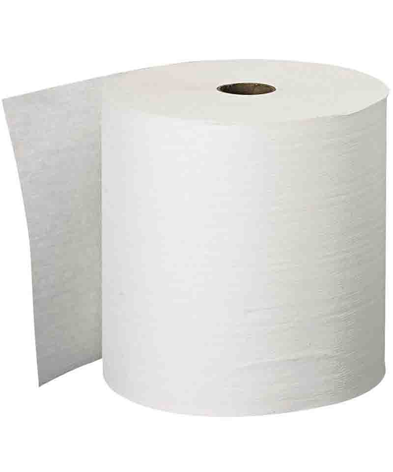 """Hand Roll Towel White 2"""" Core"""